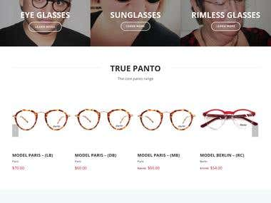 Woo-commerce site for optical products.