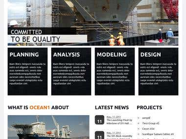 Ocean1.no : A CMS website