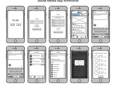 Wireframing : Mobile Apps and websites