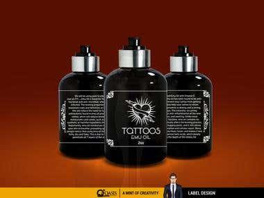 Tattoos Emu Oil Label Design
