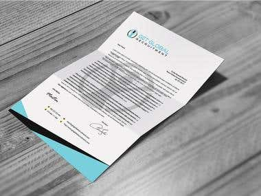 A4 letterhead for Get global recritment