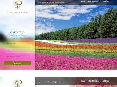 Grasse perfume Website