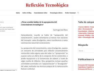 Redacción de contenidos para post, blog o artículo web.