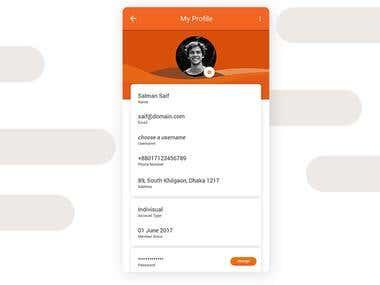 My Profile Concept Design - Android