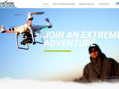 UK BASED DRONE TRAINING SCHOOL WEBSITE WITH BOOKING
