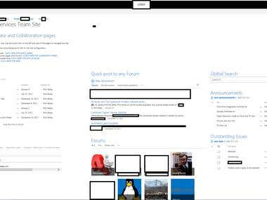 Example of Sharepoint 2016 design