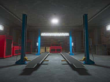Garage 3D environment for Unity3D