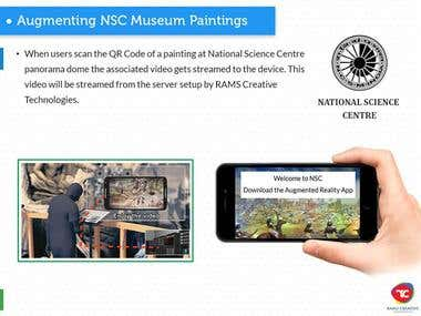 National Science Center Augmented Reality Application