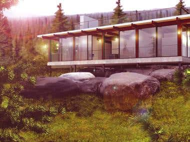 Exterior Visualization | The Forest House