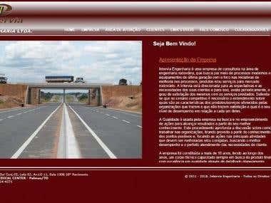 Website Intervia Engenharia Ltda.