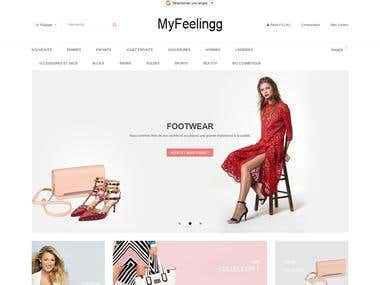 Prestashop template translation & application to the website