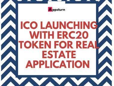 ICO Launch for REAL ESTATE COMPANY IN USA