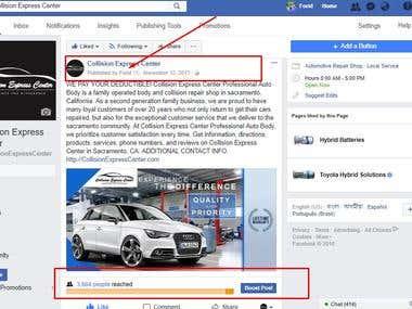 Facebook ad campaign setup