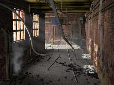 Old deserted factory