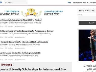 Scholarships Information Management System