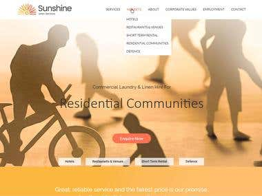 Sunshine Linen website