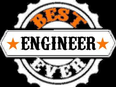 Best Engineer Ever (Logo On Shirt)