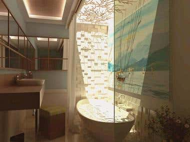 Interior Visualization | Topless Bathroom and The Kitchen