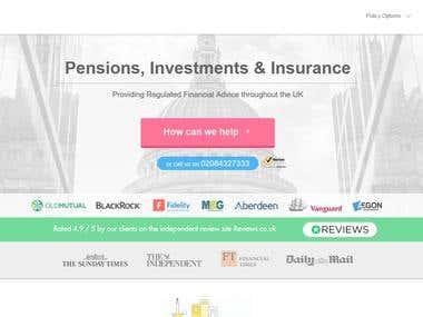 GB Insurance Company Portofolio Website