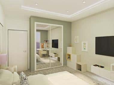 Interior design of children bedroom