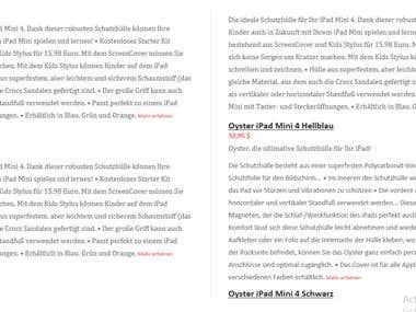 DUTCH to German whole website Translation