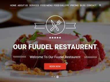 Fuddle Restaurant Website