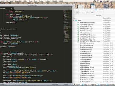 printzone.com.au full database scrape.