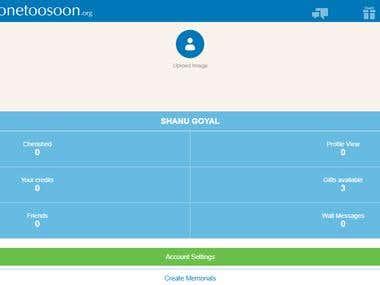 Gonetoosoon - Mobile Web Version