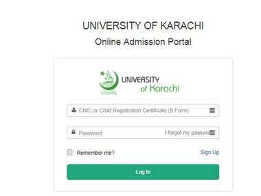 UNIVERSITY OF KARACHI Online Admission Portal