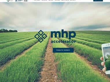 MHP Accelerator. Landing page.