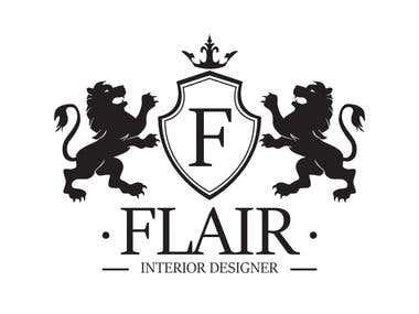 Edit Project Flair Interior Designer - Heraldic Logo Design