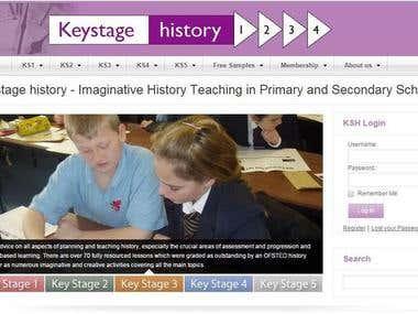 KeyStage History: Article Posting website