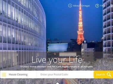 Onegai: Service Marketplace Website