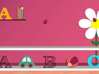Game Background:Baby voice ABC blocks