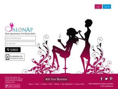 Appointment Booking Website: Salonap