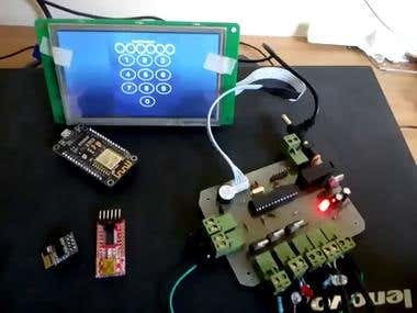 lighting control system by touch screen and arduino
