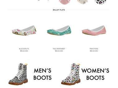 Shoe Website