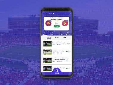 SnapFootball UI Design