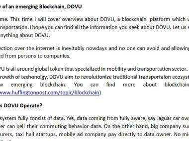 DOVU, a blockchain article rewrite
