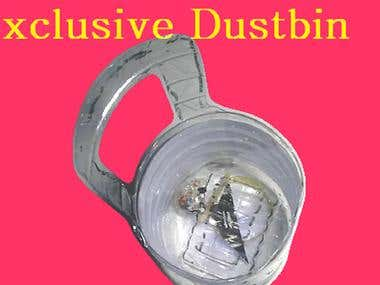 How to Make Bottle Dustbin/ Drinking Bottle Dustbin/ Bottle