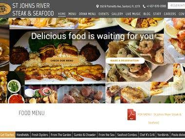 Restaurant Website - http://stjrss.com/ (Florida, USA)