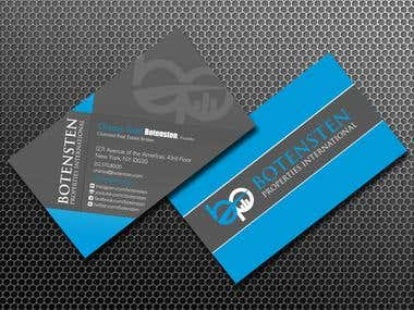 Business Card for NYC Real Estate Firm