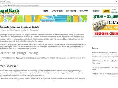 The Complete Spring Cleaning Guide (LENDING COMPANY BLOG)