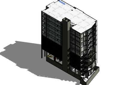 On going Bank Building at Colombo(Revit)