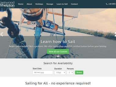 Sailing Holiday Website
