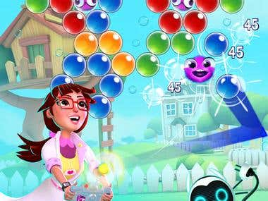 Fantastic Bubble shooter game.