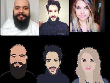 flat avatar creation