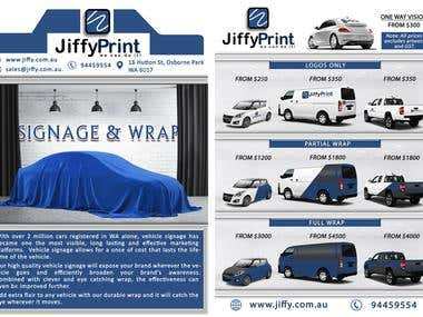 Flyer / Pamphlet for Car Wrap Business