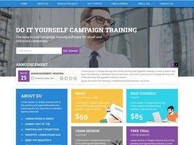 Elearning Website