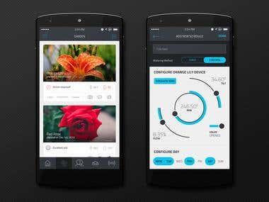 Robotic Sprinkler Mobile Application Design